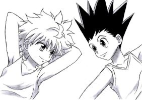 Gon and Killua - Hunter x Hunter by carolinachaves