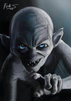 Gollum - The Hobbit by Freksama