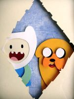 Adventure Time Shadowbox by Hatpire
