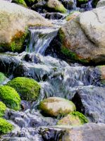 Pond water fall by HappyChaoticMelody