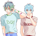 those silly matching tee shirt we bought together by ClemenceMiku