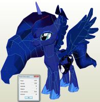 Easier Luna Papercraft by Znegil