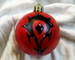 Horde Warcraft Ornament by CherriKiss