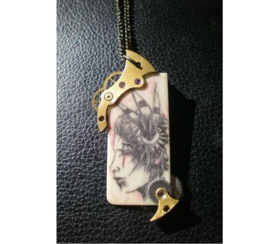 STEAMPUNK STYLE SCRIMSHAW by NCEART