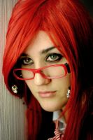 Grell close up by BloodyRedPirate
