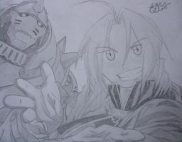 Ed and Al Fullmetal Alchemist by vegalume