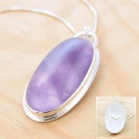 Amethyst Hidden Heart Pendant by metalsmitten