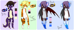 {Adoptable Set #1} by Uzu-Adoptables