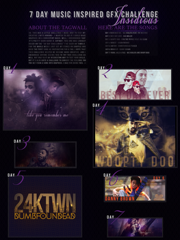7 Day Music Inspired GFX Challenge Final Tagwall by chibisrock