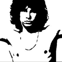 Jim Morrison Stencil Design by Blinding-Sun