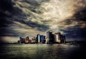 apocalypse, lower manhattan by maxpower