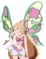 Winx club flora 3D draw by YourAwesomeTo