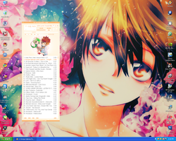 My desktop and Winamp Skin by Chocolate-x-Roses