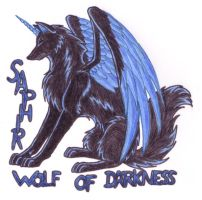 Saphir Badge by WolfOfDarkness