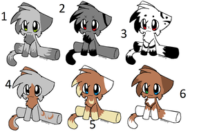6 point cat adoptables by Icey-adopts