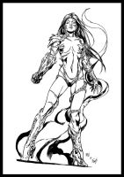 Keu Cha's Witchblade ink by tZuB