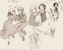 APH: Sketchpile 1 by BearWithGlasses