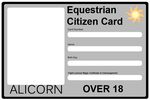 Equestrian Citizen Card - Alicorn by Maxis122