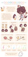 Bella-mere Closed Species Guide! by Motaii