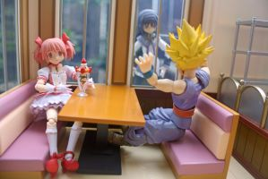 Gohan and Madoka on a Date by here-and-faraway