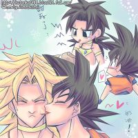 goku licks brolys face by kotenka1984