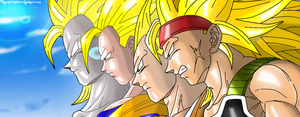 SSJ3 Father and Sons + Turles by JamalC157