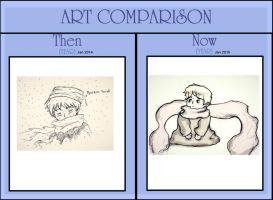 Art Comparison One Year by Gleca
