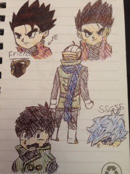 Gohan and friend for/burNINgFro  by kotakthesaiyen