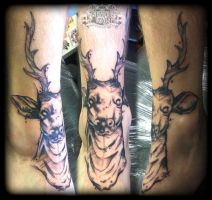 Stag by state-of-art-tattoo