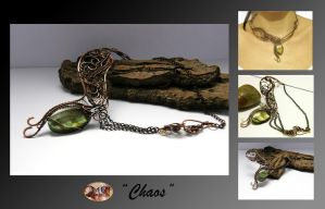 Chaos- wire wrapped necklace by mea00