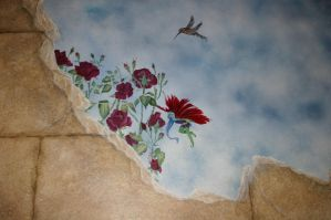 Flower fairy broken wall stock by ESTilton