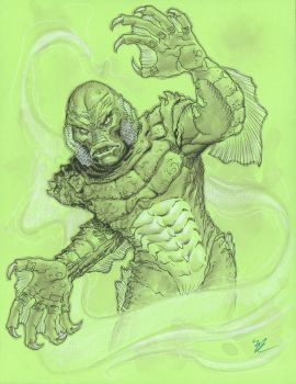 Creature from the Black Lagoon  con sketch by MichaelDooney