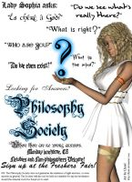 Philosophy Society Poster by Llrael