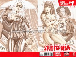 spider man girls commission by W-arting