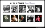 Top Ten favorite Singers/musicians by Dairugger