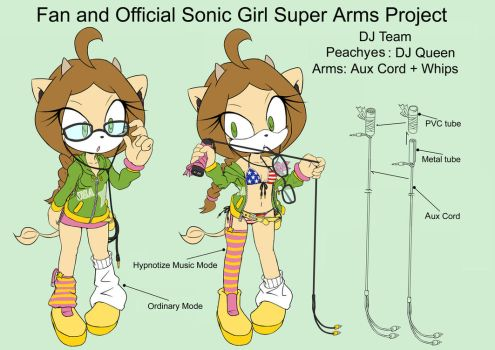 SonicSuperArmsProject  Peaches (DesignTest) by skyshek