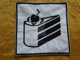 Cake Icon Iron On Patch by Li-is-Mara