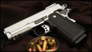 Tin full of Ammo and a .45 by SWAT-Strachan