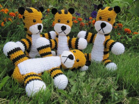 Hobbes Plush Toy Commissions by NerdyKnitterDesigns