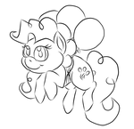 pinkie floating away by unseenpsychotichell