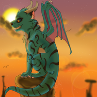 AT .: Sunset Perch:. by SasoriDanna94