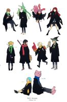 Death Brigade Hogwarts ver by demitasse-lover