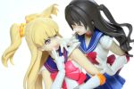 Sailor V (Rika) and Sailor Moon (Uzuki) by Grims-Garden00