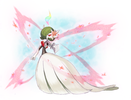 Mega Melon the Gardevoir by Xyliax