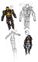 ROBOT MEN and ROBOT WOMEN by MANeatingCLOTHES