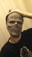 Zombie half mask by asconch