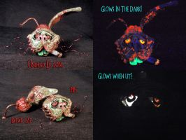 Nails The Zombie Bunny Spoon Pipe by Undead Ed Glo by Undead-Art