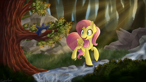 Forest Morning by SentireAeris