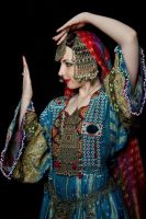 Afghan Girl - mirror dance pose by Apsara-Stock