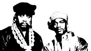 Eric B and Rakim Stencil by Klaus0000